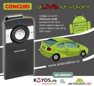 Concurs androidlive.ro car kit Plantronics K100